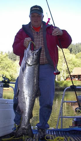 fish dee's flashers to catch chinook on the alsea river