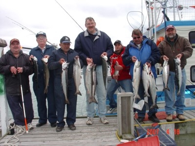 catch spring salmon with dee's diamond flashers and action charters