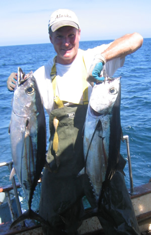 trolling for tuna with Double Dee's Diamond Flashers